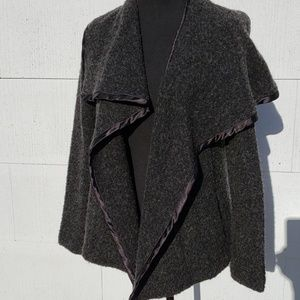 GAP gray Cape/Blazer size S